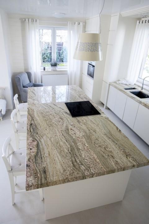 granite kitchen worktop stove
